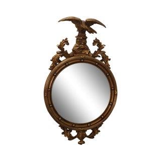 Friedman Brothers Girandole Convex Bullseye Mirror W/ Eagle