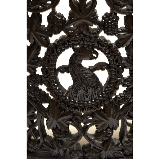 Antique 1850 Anglo-Indian Hand Carved Chair - Image 6 of 6