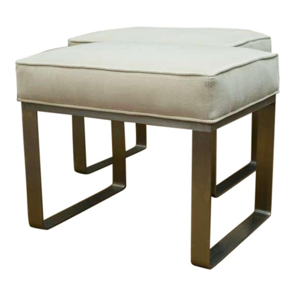 Image of Ritz-Carlton Brushed Steel Ottoman