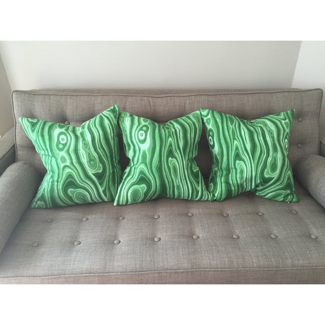 Emerald Green Pillow - 3 Available - Image 3 of 5
