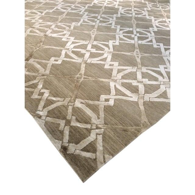 Pasargad Modern Silk & Wool Rug - 8′1″ × 10′1″ - Image 3 of 4