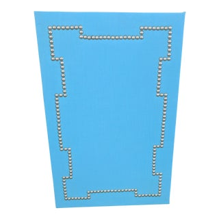 Geometric Nail Head Blue Cork Board
