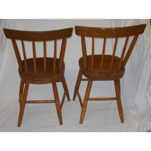 Antique Traditional Wooden Chairs - A Pair - Image 3 of 6