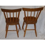 Image of Antique Traditional Wooden Chairs - A Pair