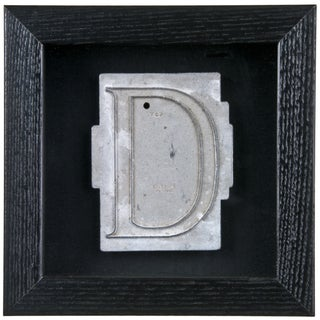 Framed Mid Century Spacerite Steel Letter D