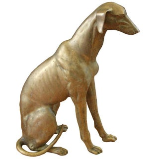 Life Sized Brass Greyhound