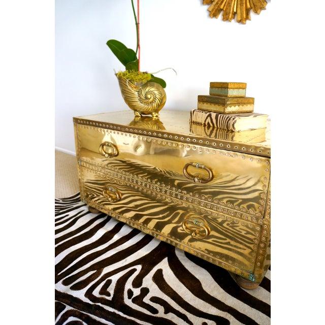 Brass Studded Sarreid Chest - Image 7 of 11