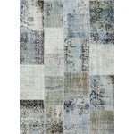 """Image of Overdyed Gray Patchwork Rug- 4' 9"""" X 6' 8"""""""
