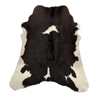 "Brown & White Brazilian Calf Hide Rug - 3' X 3'5"""