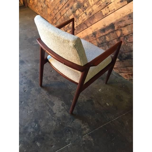 Mid-Century Danish Walnut Sculpted Arm Chair - Image 9 of 9