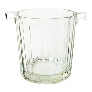 Vintage Faceted Glass Ice Bucket