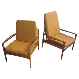 Fred Lowen Teak Lounge Chairs