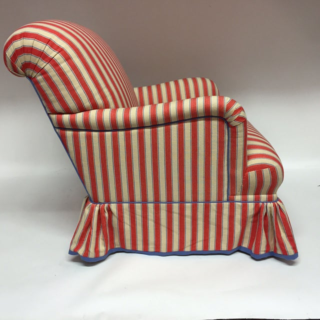 Diamond Baratta Striped Lounge Chair - Image 4 of 6