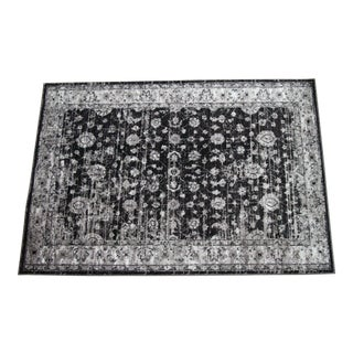 "Distressed Vintage Gray Rug Doormat - 1'8"" x 2'8"""