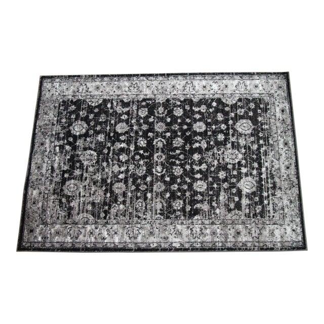 "Distressed Vintage Gray Rug Doormat - 1'8"" x 2'8"" - Image 1 of 5"