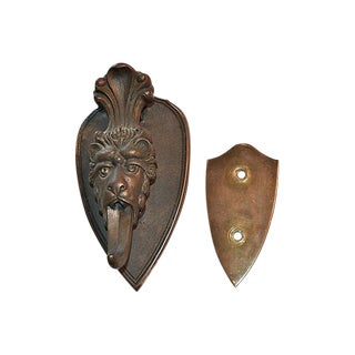 Long-Tongued Bronze Lion Door Knocker