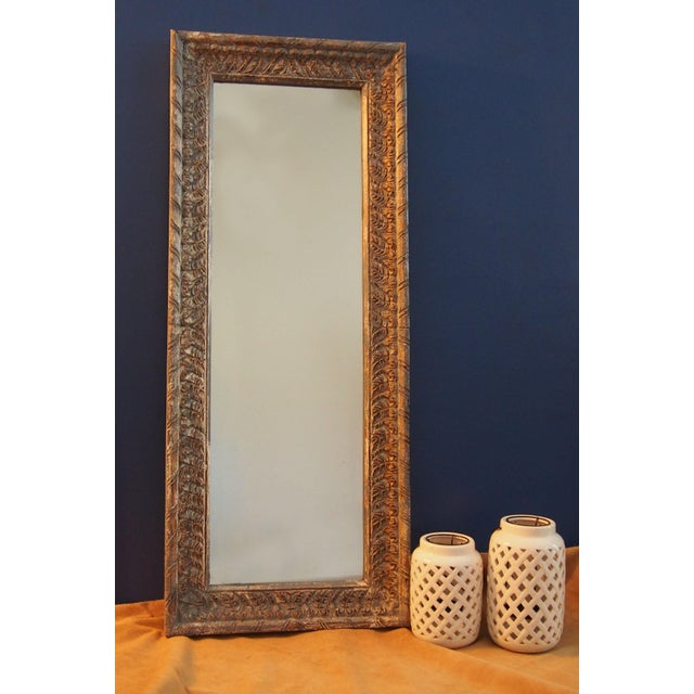 rajasthan carved wood frame full length mirror image 3 of 5 - Wood Frame Full Length Mirror