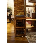Image of Antique Wood Tea Table