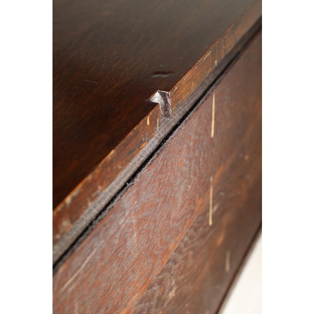 1900 Antique Oak Desk Top - Image 7 of 7