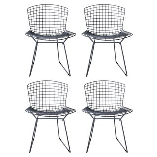 Vintage Bertoia Gray Chairs - Set of 2 (2 Are Sold