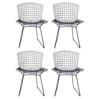 Vintage Bertoia Gray Chairs - Set of 4