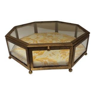 Gilt Metal Mounted Glass Jewel Box