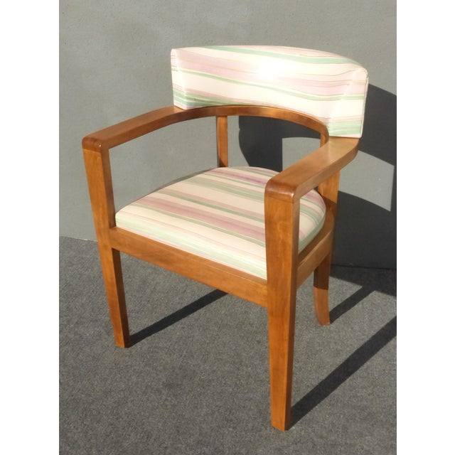 Mid-Century Danish Modern Leather Arm Chairs - 4 - Image 6 of 11