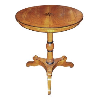 Northern Italian Oak Inlaid Side Table