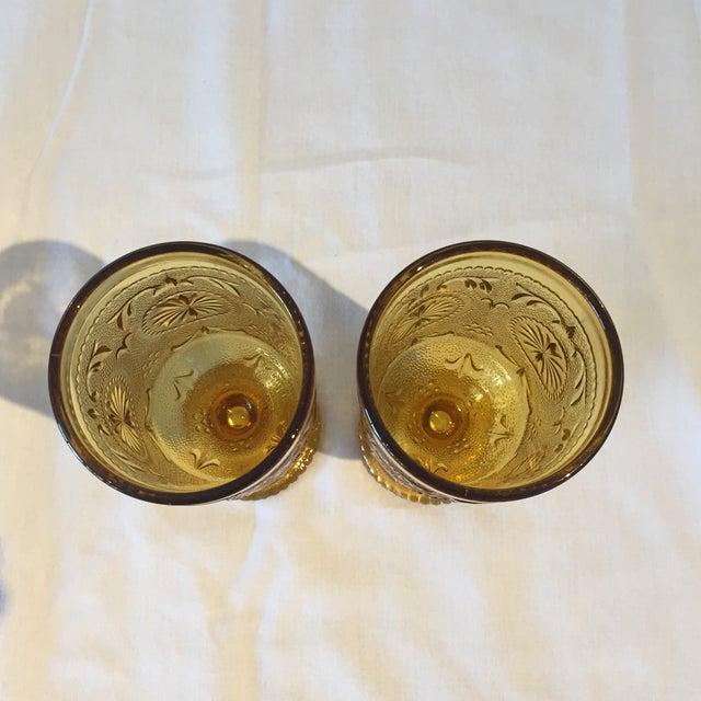 Vintage Amber Vintage Goblets - A Pair - Image 3 of 5