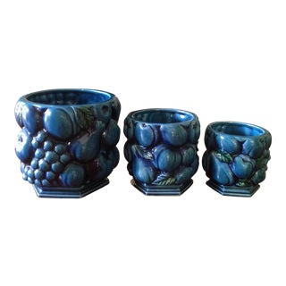 Inarco Japanese Pottery Planters   Set of 3. Indianapolis Vintage  Antique   Used Furniture
