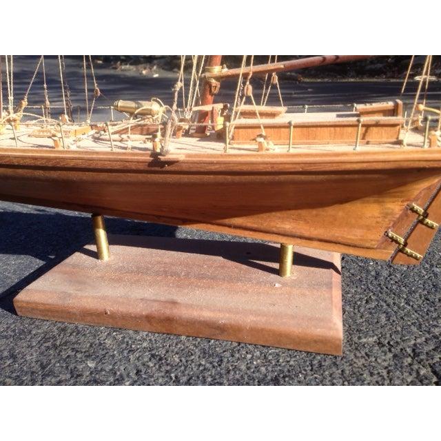 Wood Model Boat - Image 5 of 10