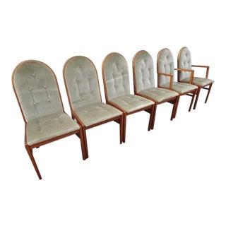 Danish Modern Teak Dining Chairs - S/6