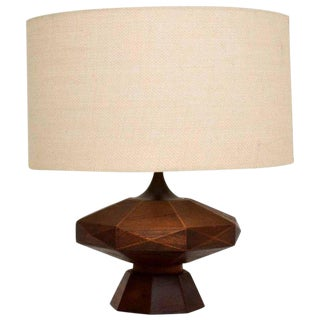 Mexican Modernist Mahogany Table Lamp