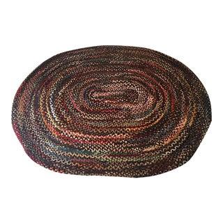 Farm House Style Handmade Braided Oval Rug -