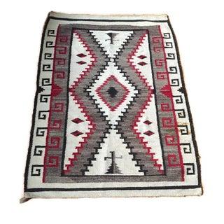 Vintage Navajo Wool Hand Knotted Rug - 3′8″ × 5′1″
