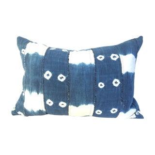 Vintage African Indigo Batik Pillow