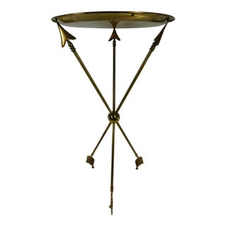 Hollywood Regency Brass Arrow Tripod Table