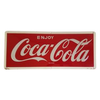 Coca-Cola Metal Tin Enamel Sign - c.1969