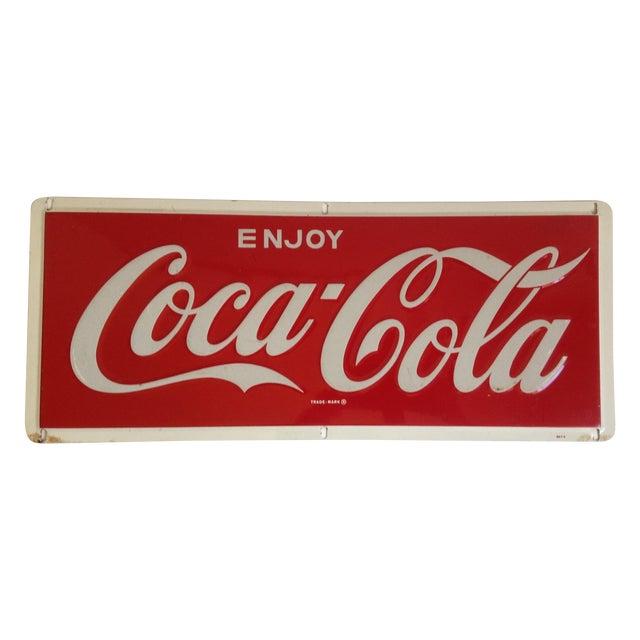 Coca-Cola Metal Tin Enamel Sign - c.1969 - Image 1 of 4