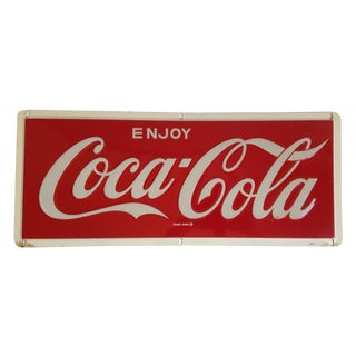 Coca-Cola Metal Tin Enamel Sign - c.1969