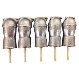 Steel Whiskey Bottle Pourer Stoppers - Set of 5