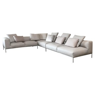 B&B Italia 'Frank' Leather Sectional