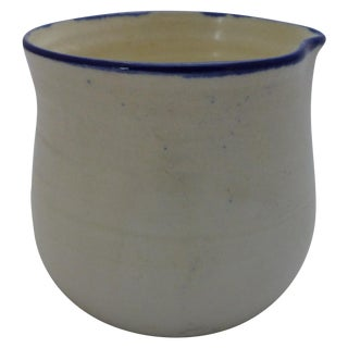 Mid-Century Blue and White Studio Pottery Beaker