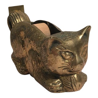 Brass Cat Tape Dispenser
