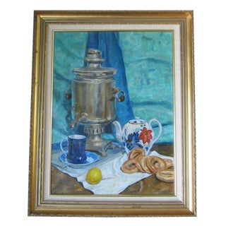 'Tea Time in the Ussr' Original Painting