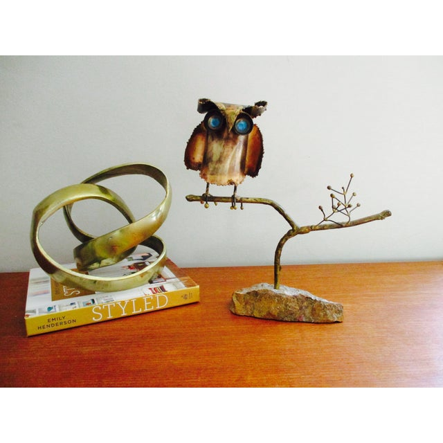 """""""Owl on Branch,"""" Early Sculpture by Curtis Jere - Image 8 of 11"""