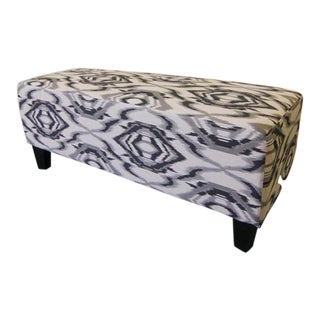 Contemporary White and Grey Ottoman/Stool