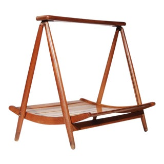 Teak Wood Magazine Tray Holder