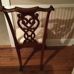 Image of Maitland-Smith Mahogany Side or Accent Chairs- A Pair