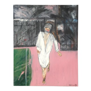 Original Modern Expressionist Oil Painting - Leaving by Michael Hafftka